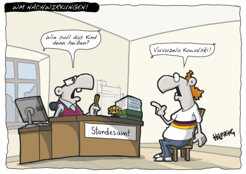 Vuvuzela Cartoon von Oli Hilbring