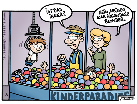Cartoon: Steffen Gumpert - Kinderparadies