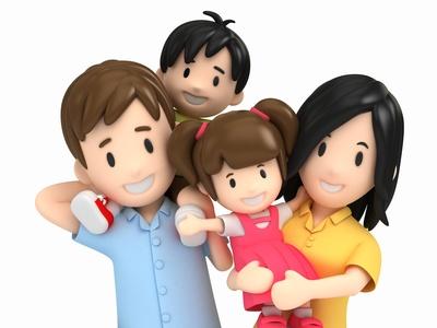 Glückliche Familie © Gouraud Studio - Fotolia.com