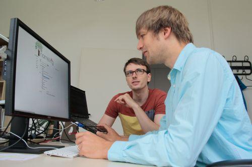 Die Informatiker Jürgen Müller und Folke Mitzlaff