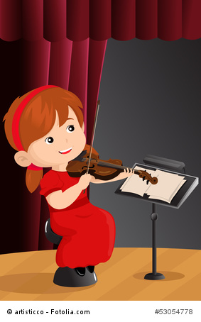 Mädchen mit Geige © artisticco - Fotolia.com