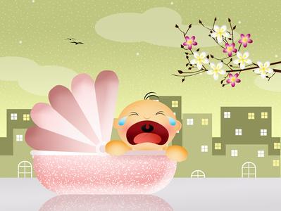 Baby schreit © adrenalinapura - Fotolia.com