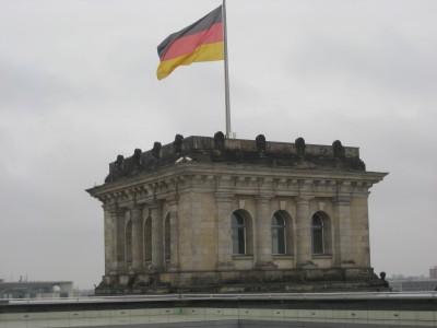 Flagge am Reichstagsgebäude