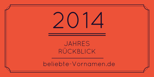 Jahresrückblick 2014