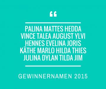 Gewinnernamen 2015