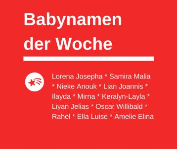 Babynamen der Woche 48/2016