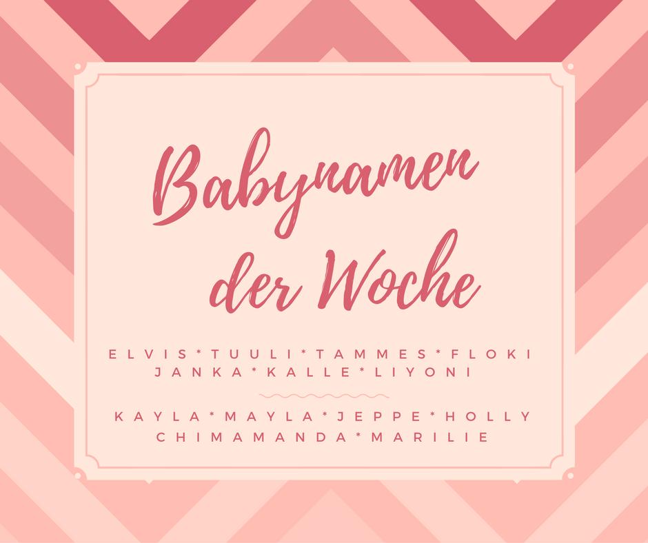 Babynamen der Woche 49/2016