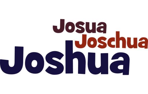 Joshua, Joschua und Josua