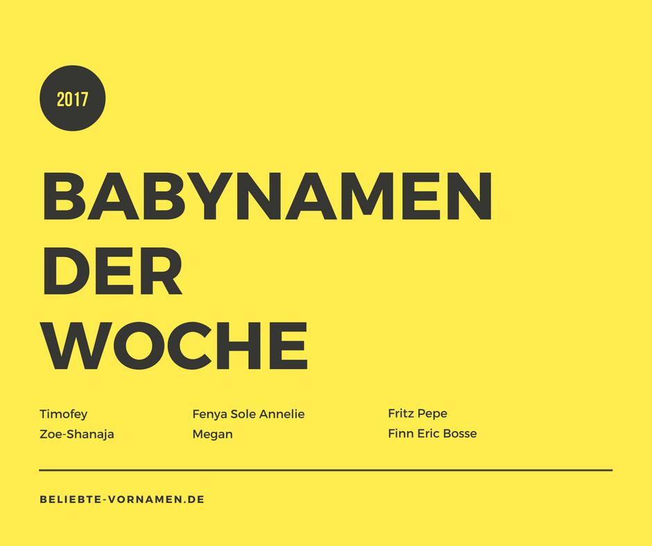 Babynamen der Woche 06/2017