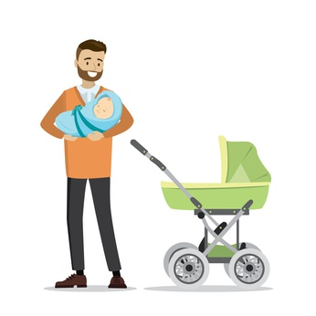 Vater mit Baby © naum - fotolia.com