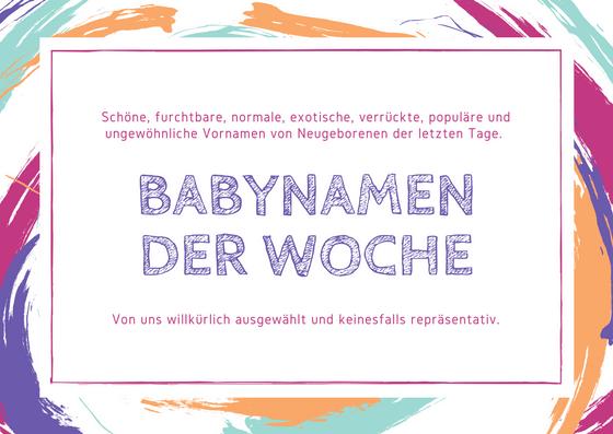 Populäre Babynamen