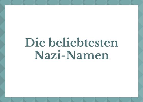 Nazi-Namen