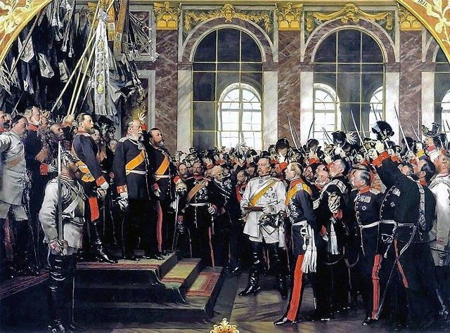 Proklamation des deutschen Kaiserreiches im Spiegelsaal von Schloss Versailles