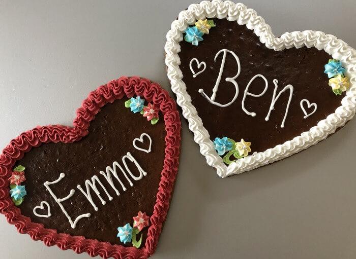 Ben und Emma Lebkuchenherzen