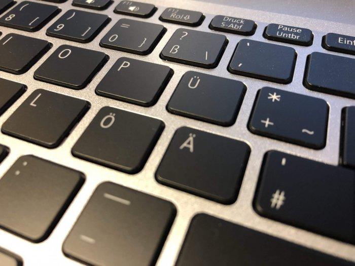 Tastatur mit Umlauten
