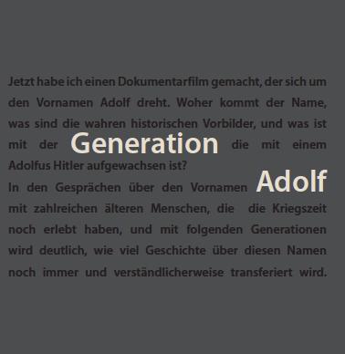 Generation Adolf Cover vorn