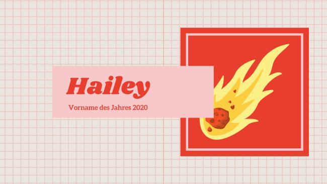 Hailey Vorname des Jahres 2020