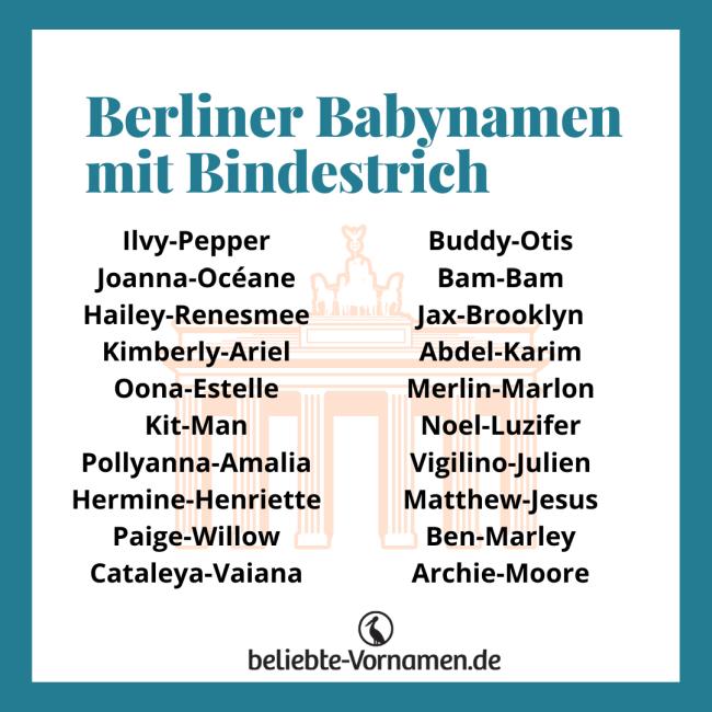Berliner Vornamen mit Bindestrich