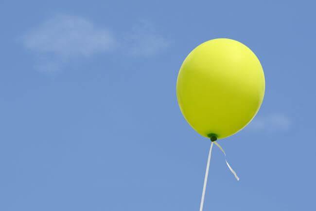 gelber Luftballon