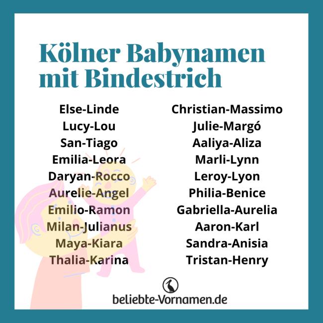 Kölner Namen mit Bindestrich